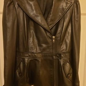 DVF Women's Leather Jacket Small